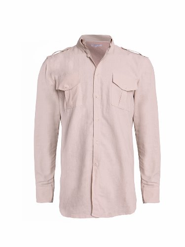 Button-down Military shirts (beige)