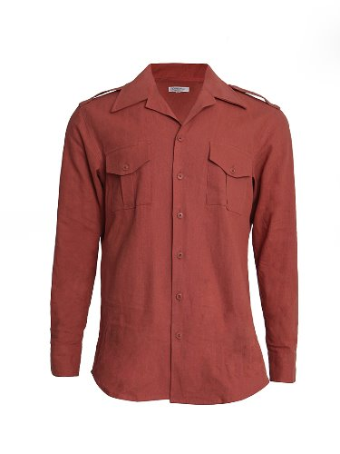 Open collar Military shirts (orange)