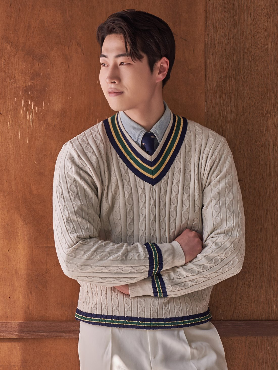 Preppy cricket knit (ivory)