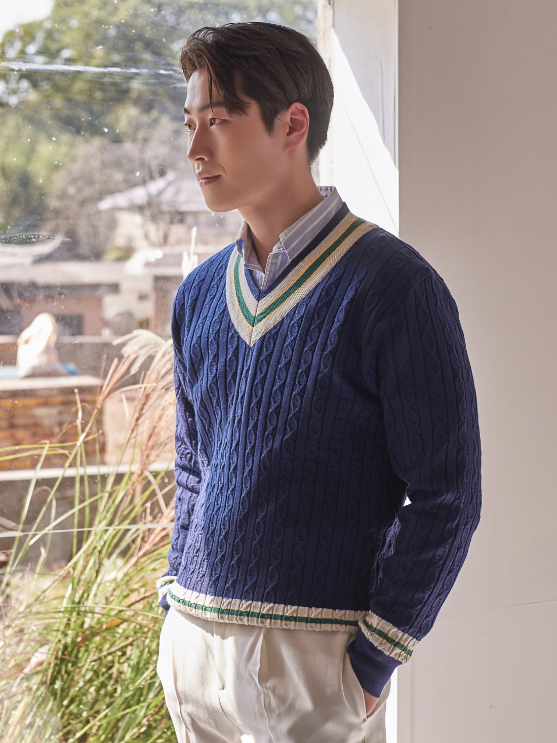 preppy cricket knit (navy)