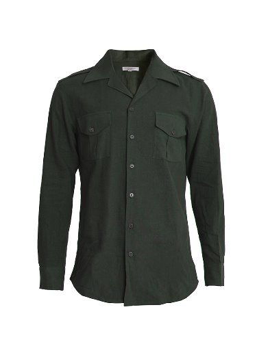 Open collar Military shirts (khaki)